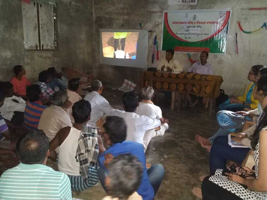 A training session underway in Balipatna block, Koraput district.